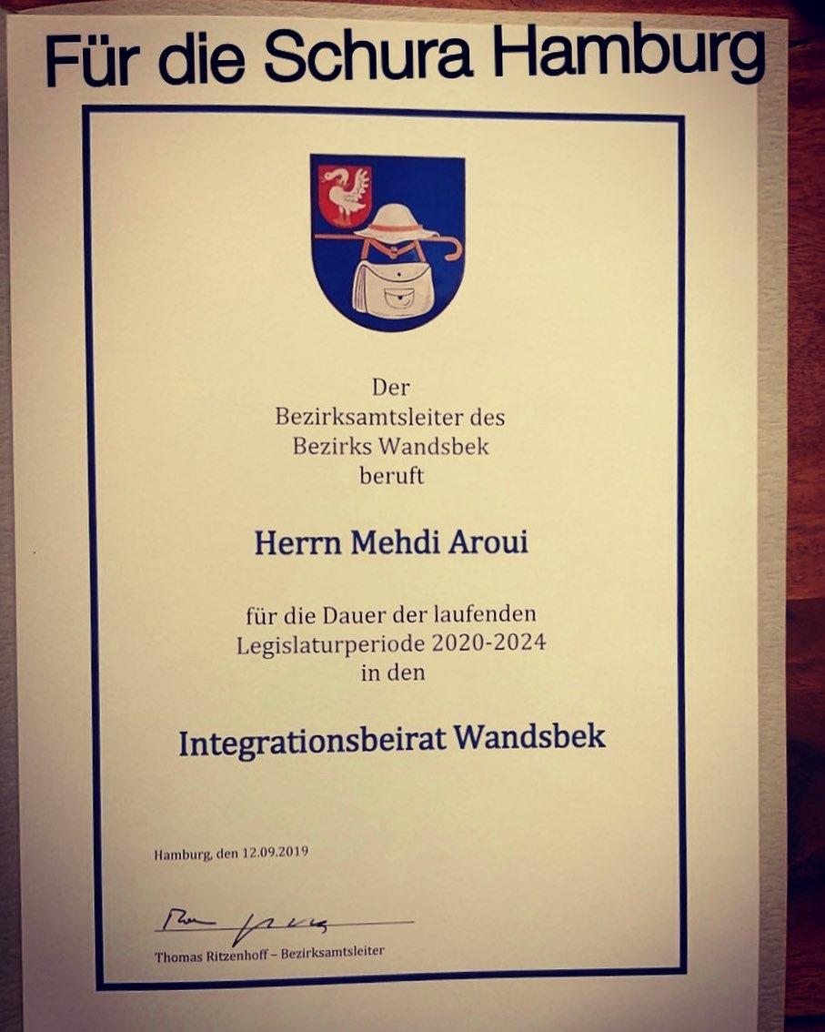 Mehdi Aroui Integrationsbeirat Hamburg Wandsbek
