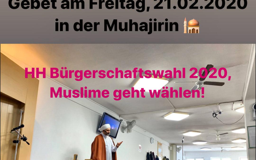 Hamburger Bürgerschaftswahlkampf in der Muhajirin Moschee